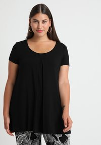 Zalando Essentials Curvy - T-shirt print - black/black - 0