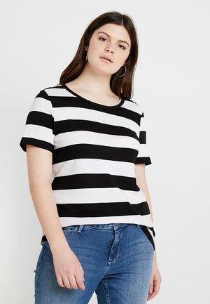 Printtipaita - white/black