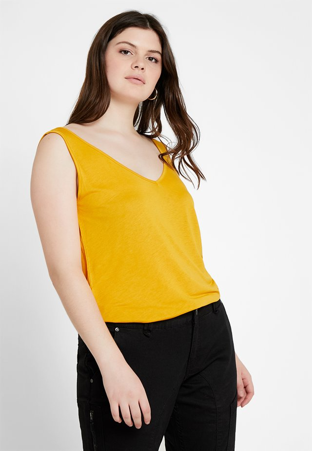 V NECK TANK - Top - sunflower