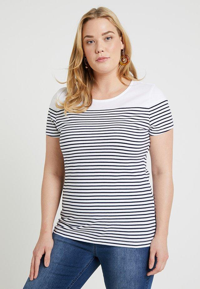 T-shirt print - white/navy