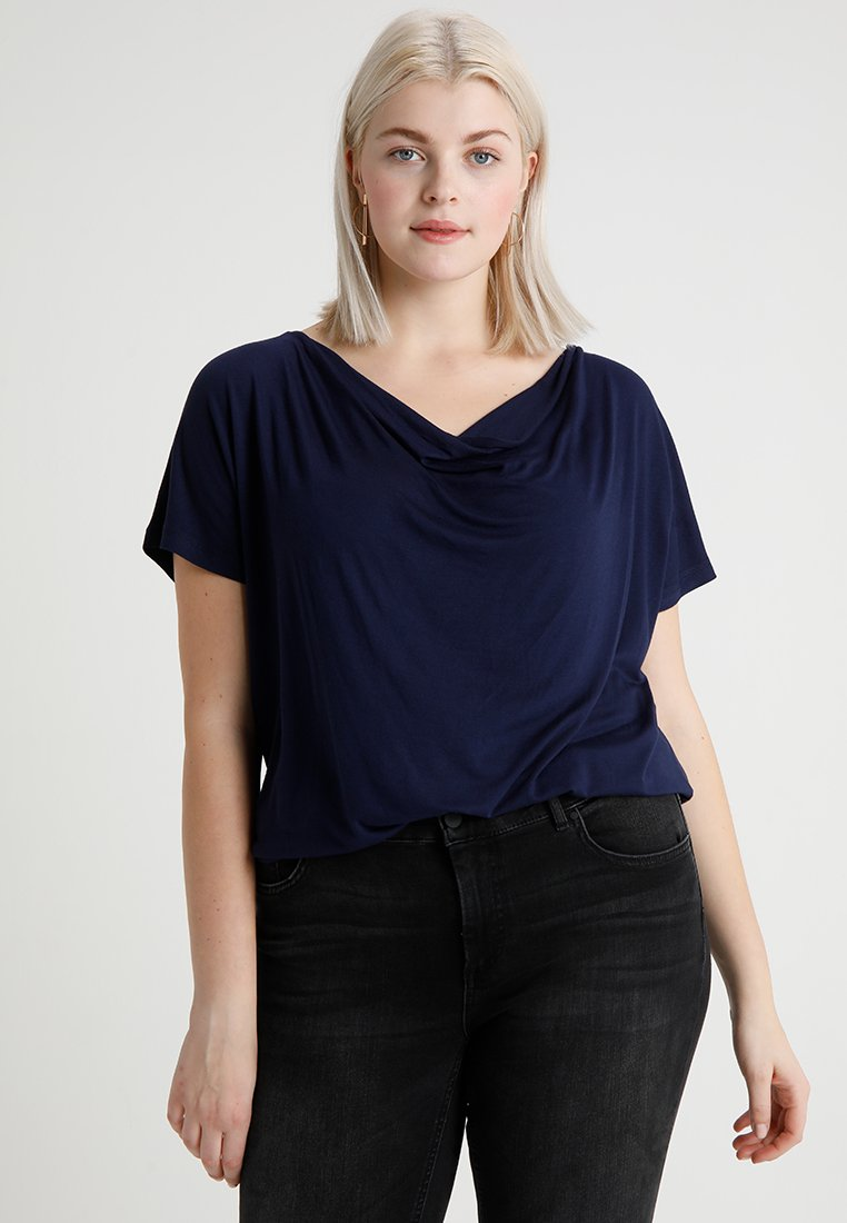 Zalando Essentials Curvy - T-shirt basic - dark blue