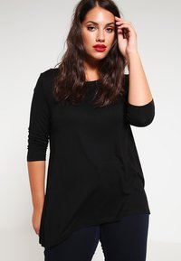 Zalando Essentials Curvy - Maglietta a manica lunga - black - 0
