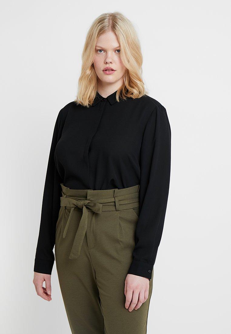 Zalando Essentials Curvy - Button-down blouse - black