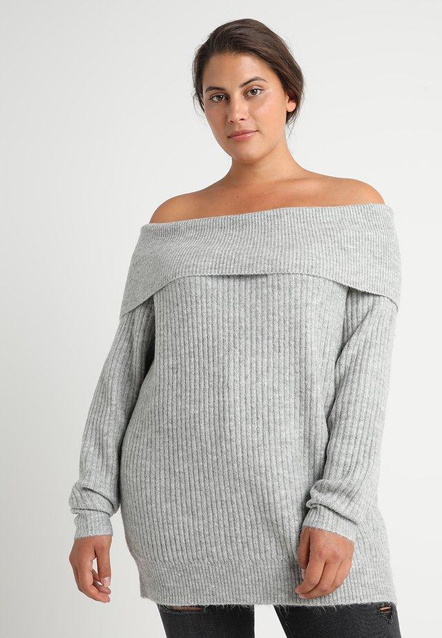 Strickpullover - mottled light grey