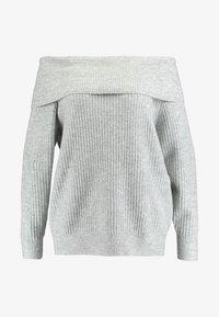 Zalando Essentials Curvy - Jumper - mottled light grey - 4