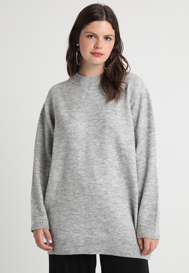 Zalando Essentials Curvy - Pullover - light grey mélange