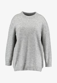 Zalando Essentials Curvy - Pullover - light grey mélange - 4