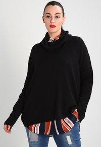 Zalando Essentials Curvy - Stickad tröja - black - 0