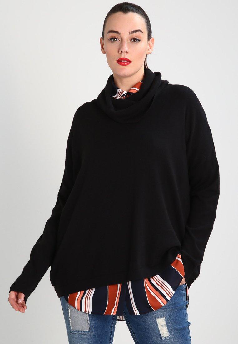 Zalando Essentials Curvy - Stickad tröja - black