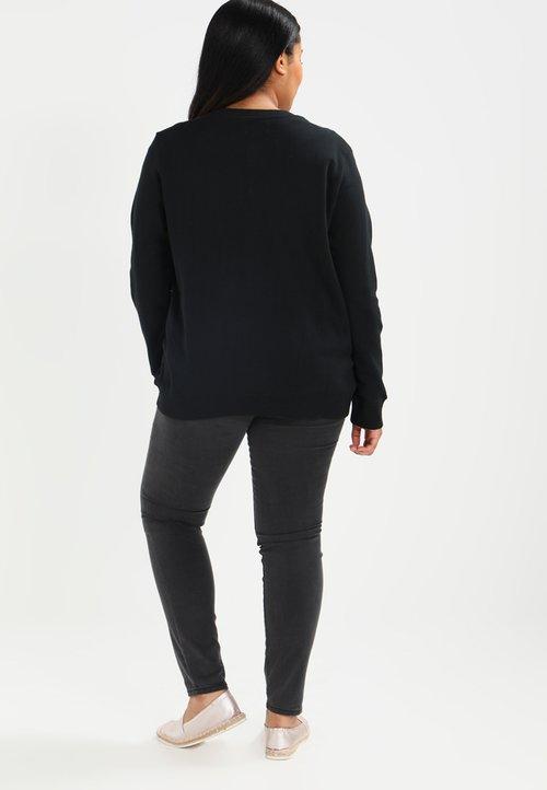Zalando Essentials Curvy Bluza rozpinana - black Odzież Damska ADMC-XL8 30% OBNIŻONE