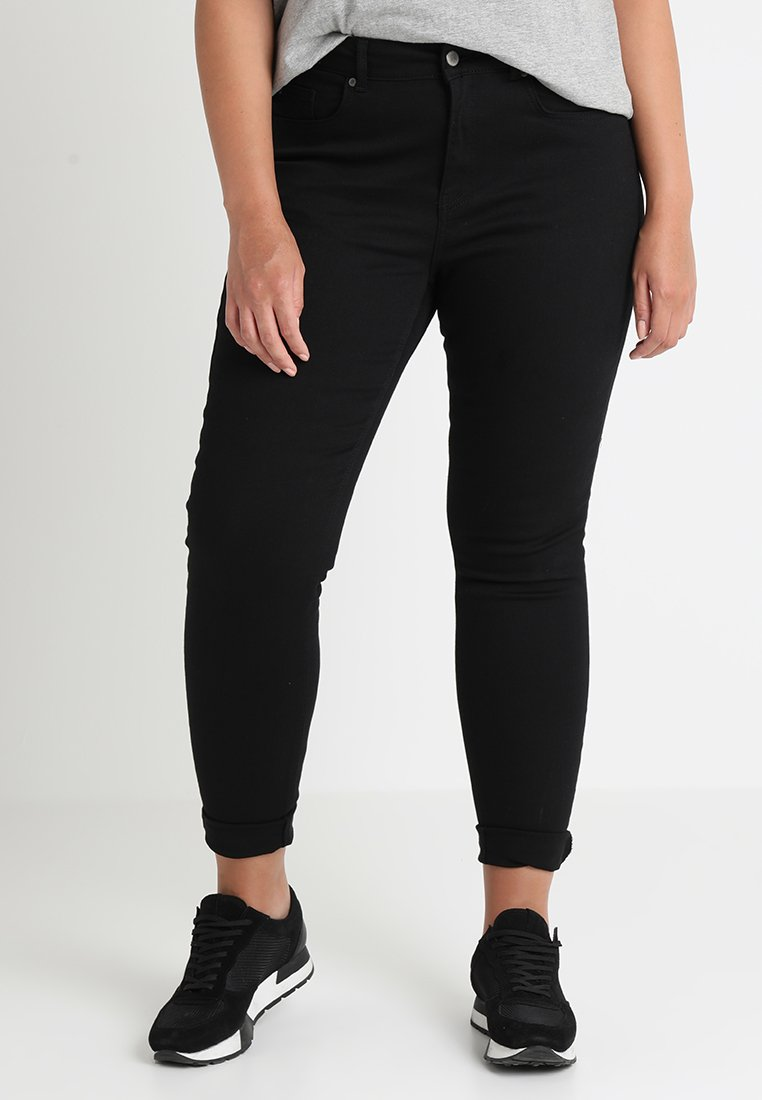 Zalando Essentials Curvy - Vaqueros pitillo - black