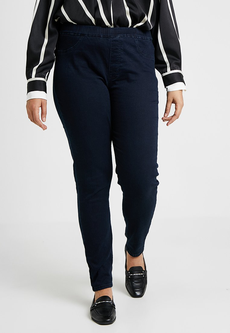 Zalando Essentials Curvy - Jeggings - dark blue rinse wash