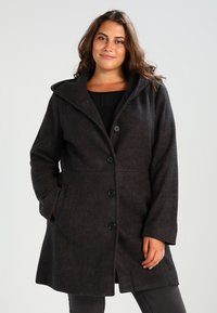 Zalando Essentials Curvy - Classic coat - dark grey mélange - 0