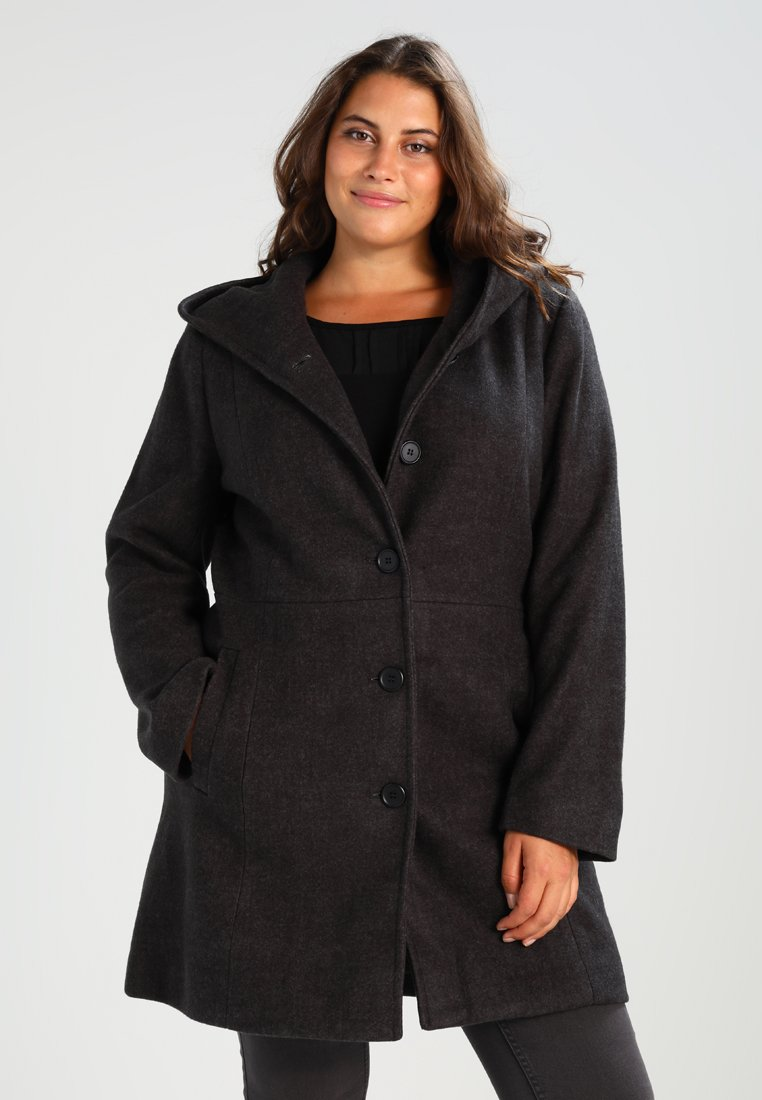 Zalando Essentials Curvy - Classic coat - dark grey mélange