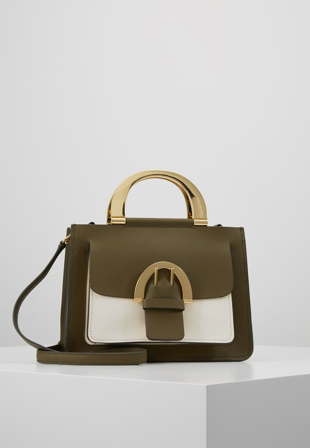 BUCKLE SMALL SHOPPER COLORBLOCK - Borsa a mano - herb
