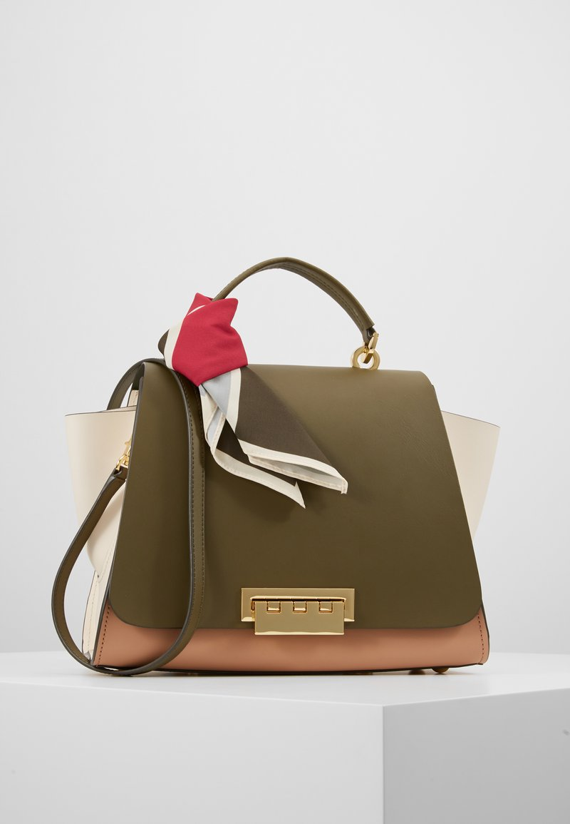 ZAC Zac Posen - EARTHA SOFT TOP HANDLE WITH SCARF COLORBLOCK - Handbag - herb