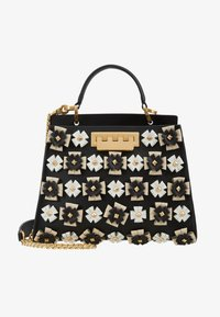 ZAC Zac Posen - EARTHETTE DOUBLE COMPARTMENT MINI FLORAL - Handtasche - black - 5