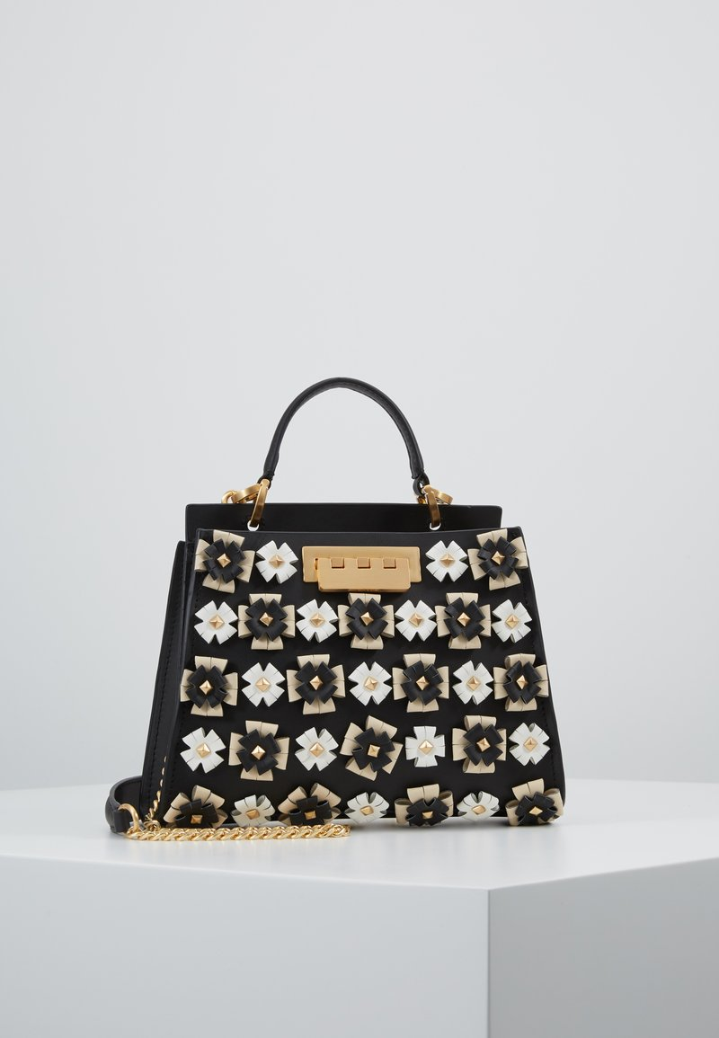 ZAC Zac Posen - EARTHETTE DOUBLE COMPARTMENT MINI FLORAL - Handtasche - black