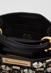 ZAC Zac Posen - EARTHETTE DOUBLE COMPARTMENT MINI FLORAL - Handtasche - black - 4
