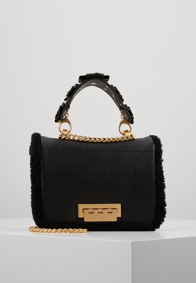 EARTHETTE SMALL SOFT CHAIN SHOULDER - Borsa a tracolla - black