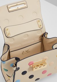 ZAC Zac Posen - EARTHA MINI TOP HANDLE CROSSBODY POLKA DOT - Handtasche - ivory/rainbow - 4