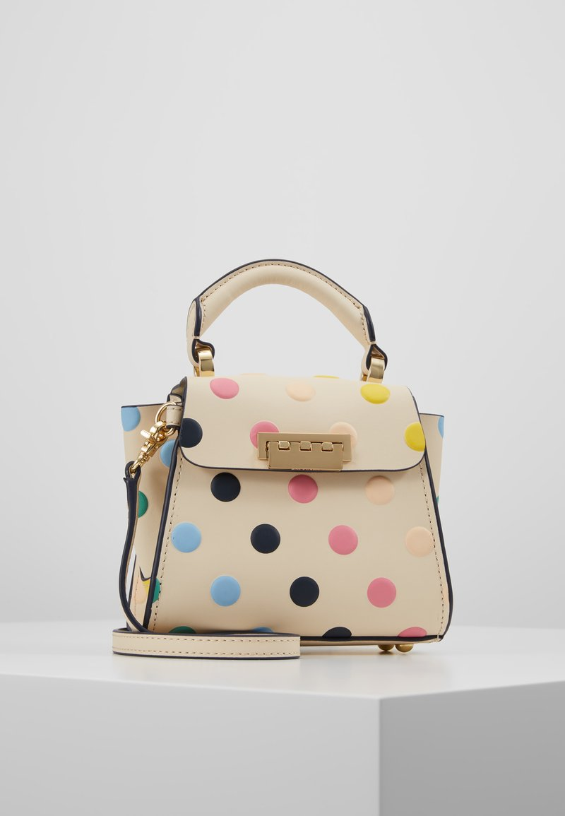 ZAC Zac Posen - EARTHA MINI TOP HANDLE CROSSBODY POLKA DOT - Handtasche - ivory/rainbow