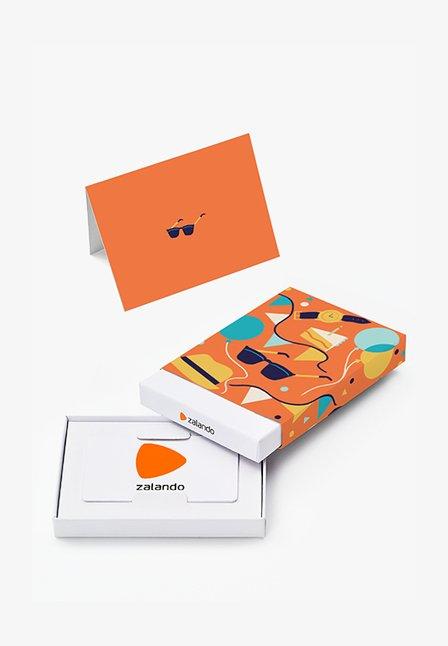 HAPPY BIRTHDAY  - Cadeaubon in feestelijke doos - orange
