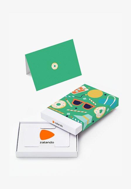 HAPPY BIRTHDAY - Cadeaubon in feestelijke doos - green