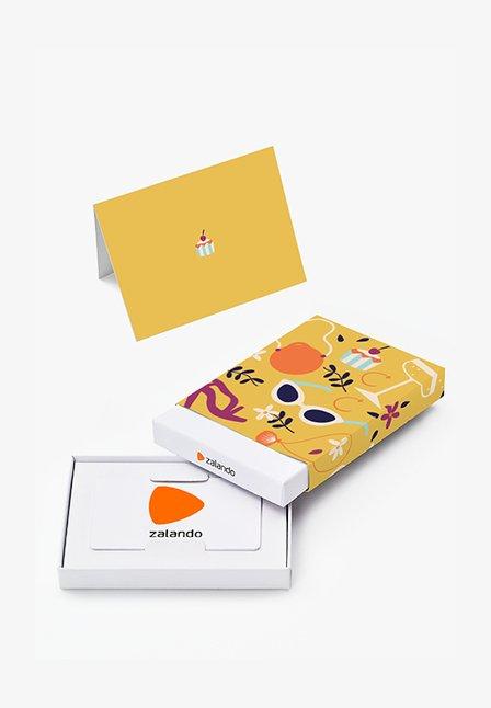 HAPPY BIRTHDAY - Cadeaubon in feestelijke doos - yellow