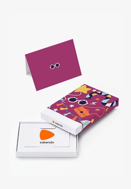 HAPPY BIRTHDAY - Cadeaubon in feestelijke doos - purple