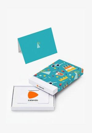 HAPPY BIRTHDAY - Box med presentkort - light blue