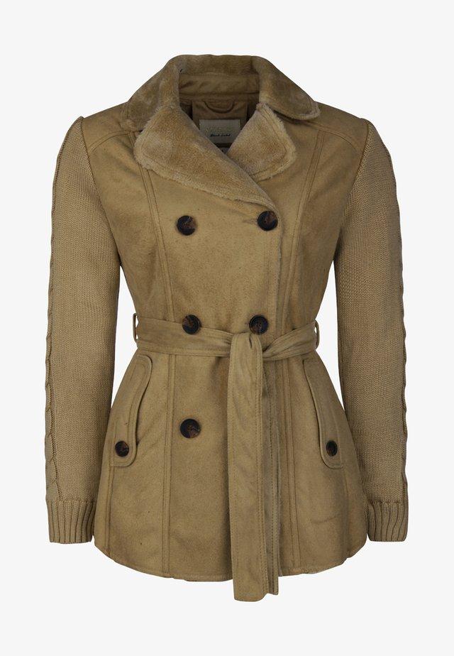 Faux leather jacket - natur
