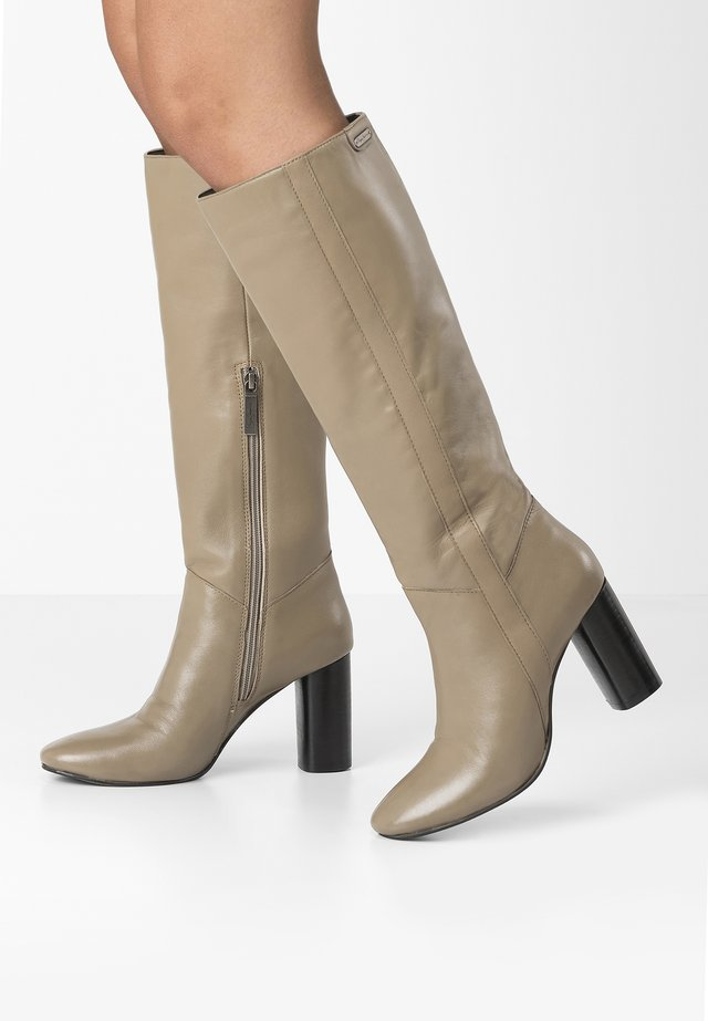 PARSON  - High heeled boots - sand