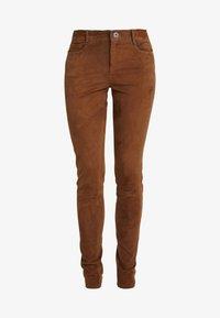 Oakwood - Pantalón de cuero - tobacco - 3