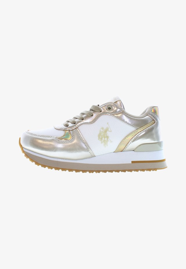 TUZLA - Trainers - off white- gold