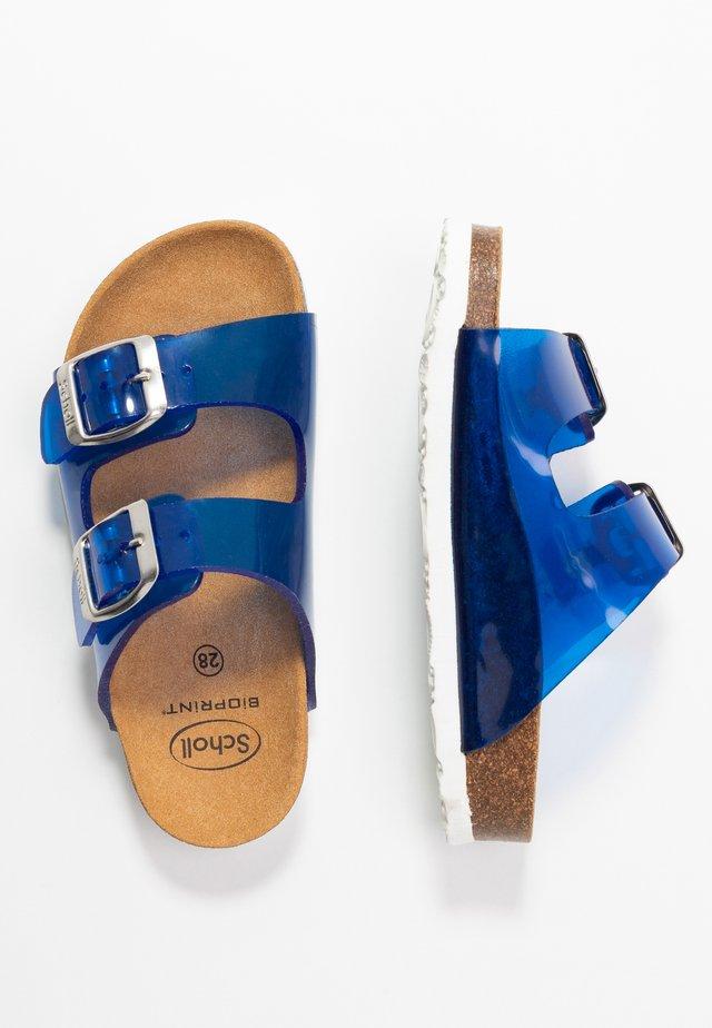 MAZDE - Pantolette flach - bleu
