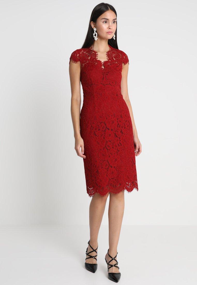 IVY & OAK - DRESS - Vestido de cóctel - rusty red