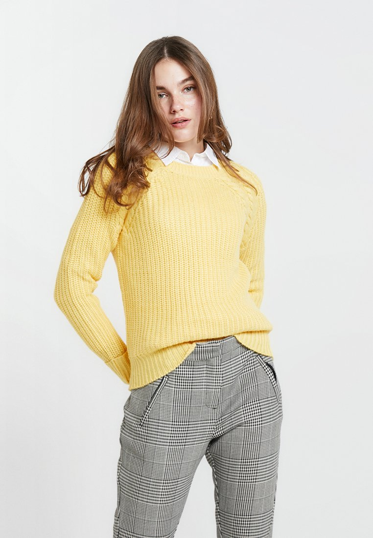 Dorothy Perkins - BETTY STATEMENT - Strickpullover - yellow