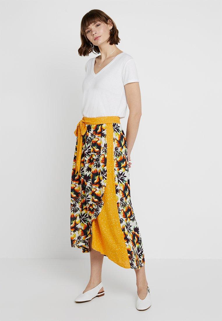 Kaffe - KAELLO SKIRT - Wrap skirt - multi-coloured