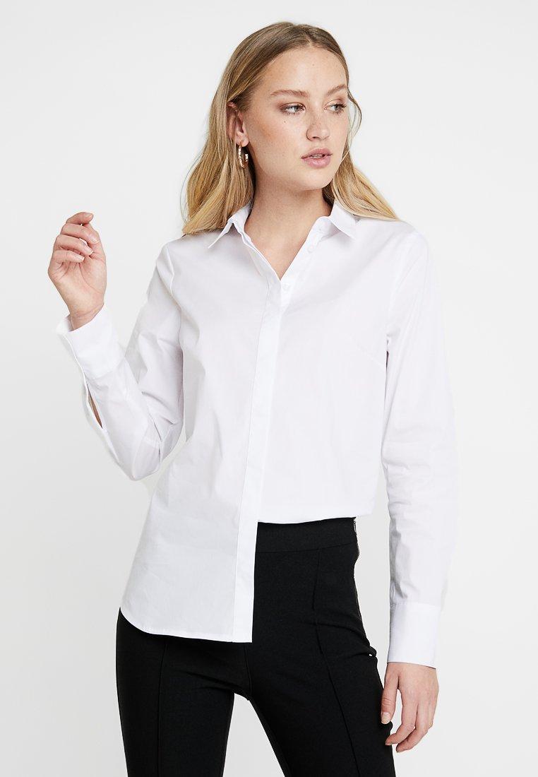 s.Oliver - LANGARM - Button-down blouse - white
