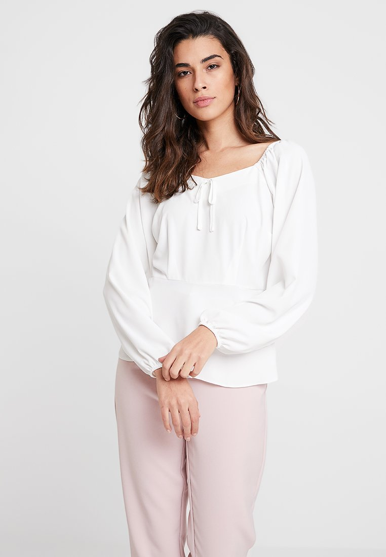 Dorothy Perkins - SQUARE NECK - Bluse - off white