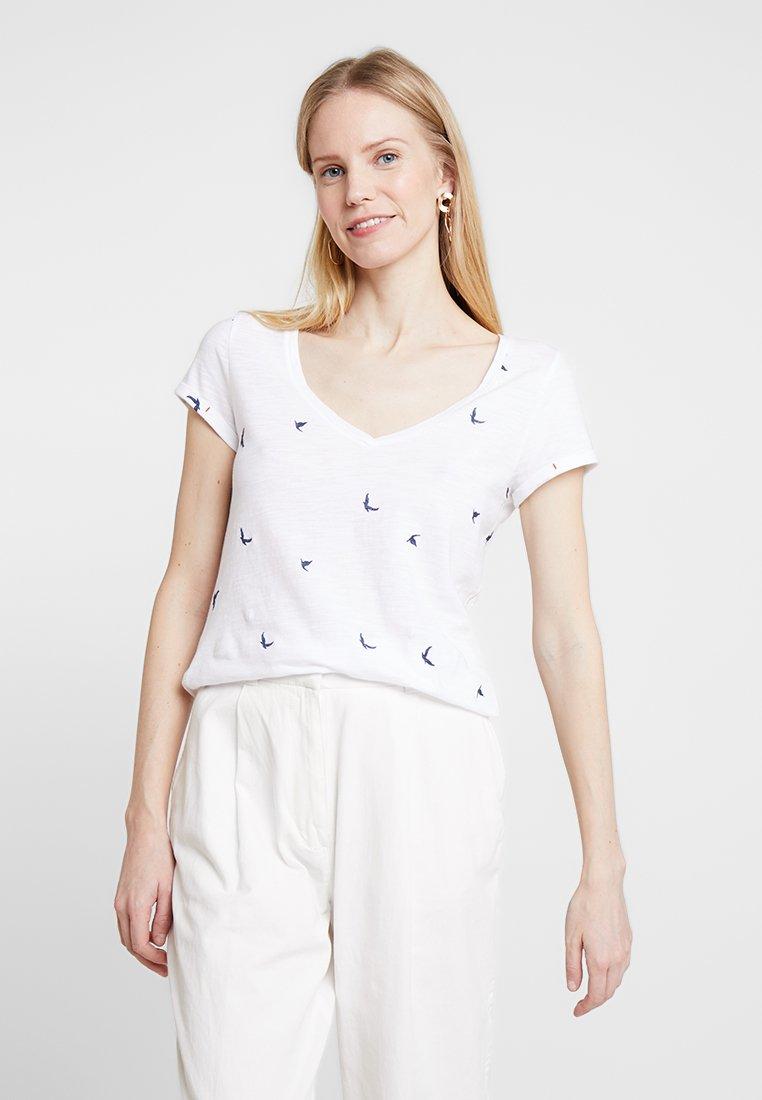 White Stuff - GOOD VIBES TEE - Print T-shirt - white