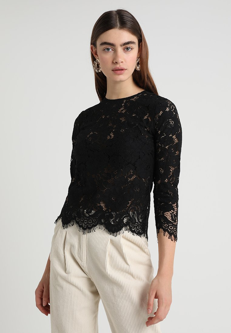 IVY & OAK - WITH SLEEVES - Blouse - black