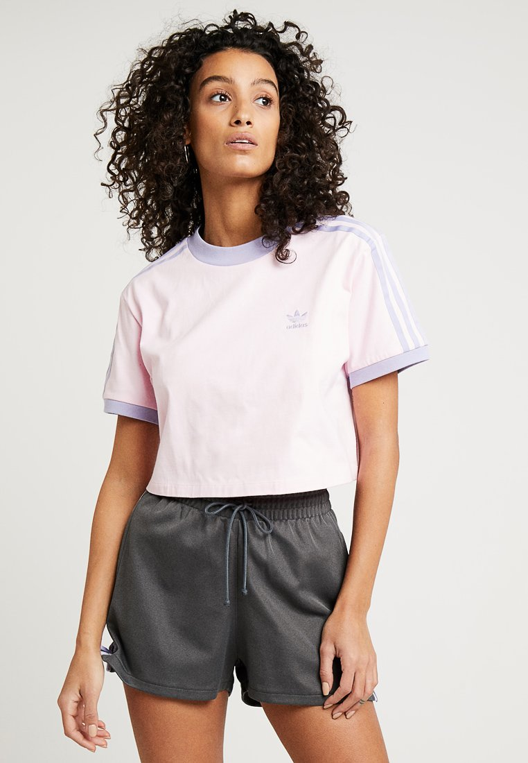 adidas Originals - CROPPED TEE - Print T-shirt - clear pink