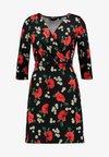Dorothy Perkins - WRAP DRESS BODYCON - Jerseykleid - daisy poppy