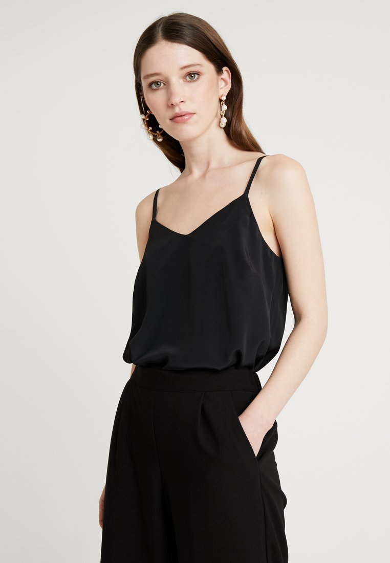 New Look - CROSS BACK CAMI - Toppe - black