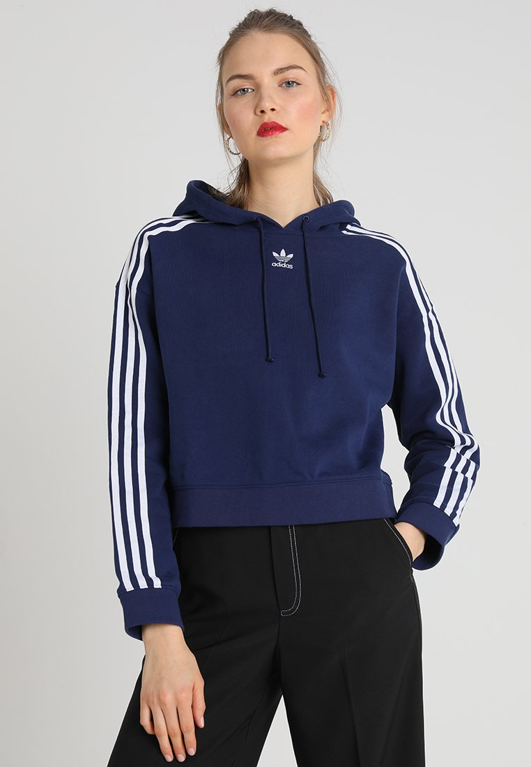 adidas Originals - CROPPED HOODIE - Kapuzenpullover - dark blue