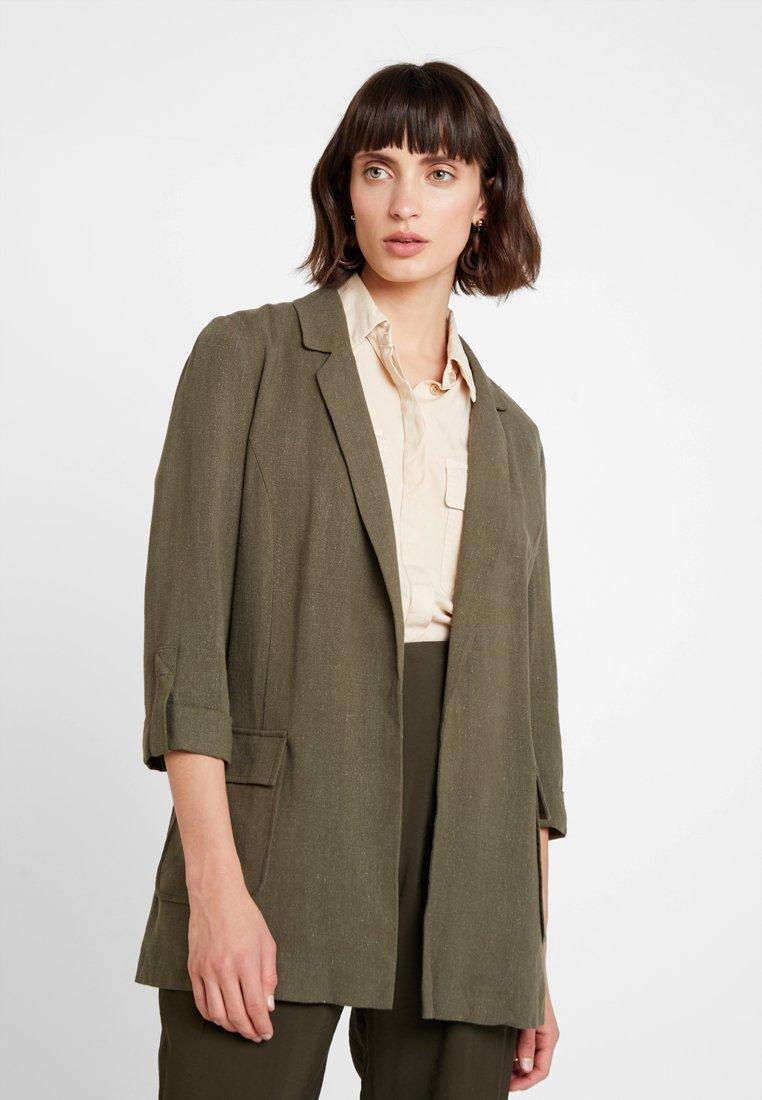 Dorothy Perkins - LOOK BELTED JACKET - Blazer - green