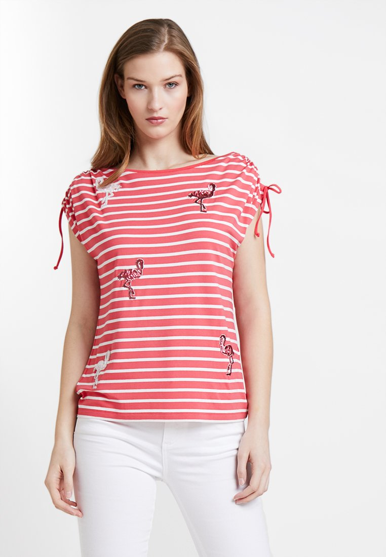 Barbara Lebek - Print T-shirt - flamingo/ offwhite