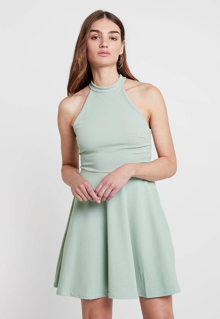 New Look - GO HIGH NECK SKATER DRESS - Koktejlové šaty/ šaty na párty - mint